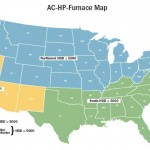 Blue area requires 90% AFUE furnaces